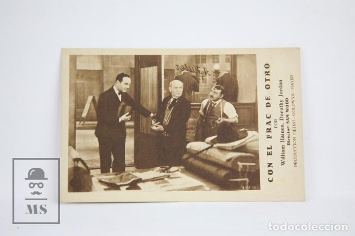 PROGRAMA DE CINE / TARJETA FOTOGRAMA - CON EL FRAC DE OTRO - CON PUBLICIDAD- METRO GLODWYN, AÑO 1933 (Cine - Folletos de Mano - Comedia)