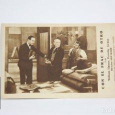 Cine: PROGRAMA DE CINE / TARJETA FOTOGRAMA - CON EL FRAC DE OTRO - CON PUBLICIDAD- METRO GLODWYN, AÑO 1933. Lote 109012923