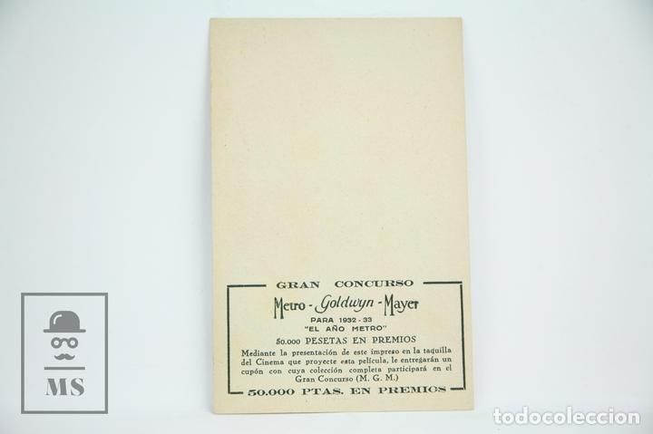 Cine: Programa de Cine / Tarjeta Fotograma - Con El Frac De Otro - Con Publicidad- Metro Glodwyn, Año 1933 - Foto 2 - 109012923