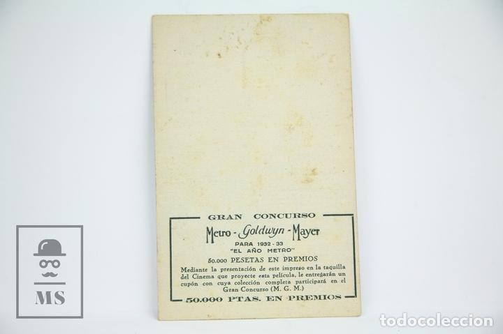 Cine: Programa de Cine / Tarjeta Fotograma - Besos Al Pasar - Con Publicidad - Metro Glodwyn, Año 1933 - Foto 2 - 109012947