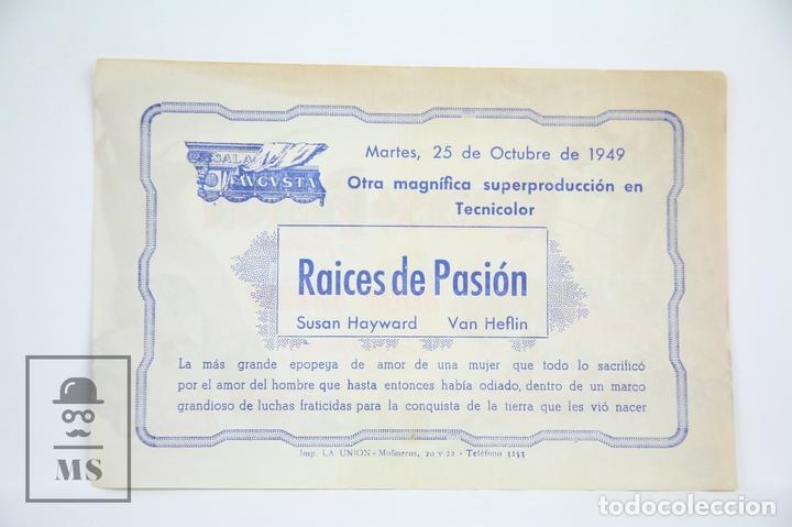 Cine: Programa de Cine Simple - Raíces De Pasión - Publicidad - Universal Films, Año 1949 - Foto 2 - 109013199