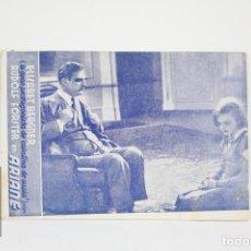 Cine: PROGRAMA DE CINE / TARJETA FOTOGRAMA - ARIANE - CON PUBLICIDAD - AÑO 1934. Lote 109014015