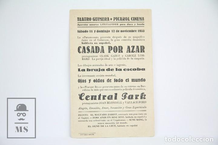 Cine: Programa de Cine Simple - Central Park / Joan Blondell - Con Publicidad - Warner Bros - Año 1933 - Foto 2 - 109014219