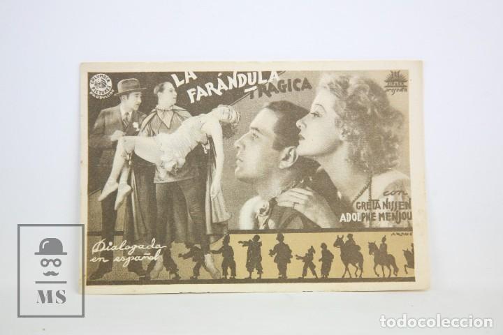 PROGRAMA DE CINE SIMPLE - LA FARÁNDULA TRÁGICA - CON PUBLICIDAD - CIFESA - AÑO 1935 (Cine - Folletos de Mano - Drama)