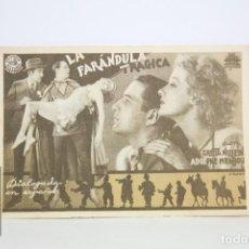 Cine: PROGRAMA DE CINE SIMPLE - LA FARÁNDULA TRÁGICA - CON PUBLICIDAD - CIFESA - AÑO 1935. Lote 109014419
