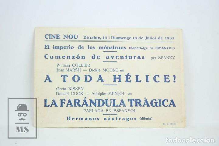 Cine: Programa de Cine Simple - La Farándula Trágica - Con Publicidad - Cifesa - Año 1935 - Foto 2 - 109014419