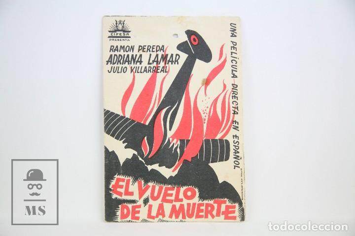 PROGRAMA DE CINE SIMPLE - AL VUELO DE LA MUERTE - CON PUBLICIDAD - CIFESA - AÑO 1935 (Cine - Folletos de Mano - Suspense)