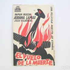 Cine: PROGRAMA DE CINE SIMPLE - AL VUELO DE LA MUERTE - CON PUBLICIDAD - CIFESA - AÑO 1935. Lote 109014715