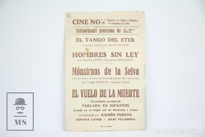 Cine: Programa de Cine Simple - Al Vuelo De La Muerte - Con Publicidad - Cifesa - Año 1935 - Foto 2 - 109014715