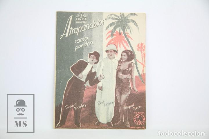 PROGRAMA DE CINE DOBLE - ATRAPÁNDOLOS COMO PUEDEN - CON PUBLICIDAD - COLUMBIA - AÑO 1934 (Cine - Folletos de Mano - Comedia)