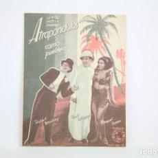 Cine: PROGRAMA DE CINE DOBLE - ATRAPÁNDOLOS COMO PUEDEN - CON PUBLICIDAD - COLUMBIA - AÑO 1934. Lote 109014875