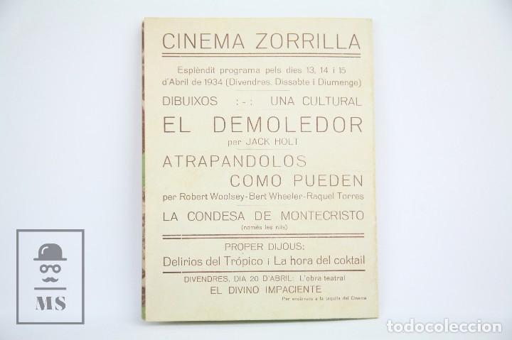 Cine: Programa de Cine Doble - Atrapándolos Como Pueden - Con Publicidad - Columbia - Año 1934 - Foto 3 - 109014875