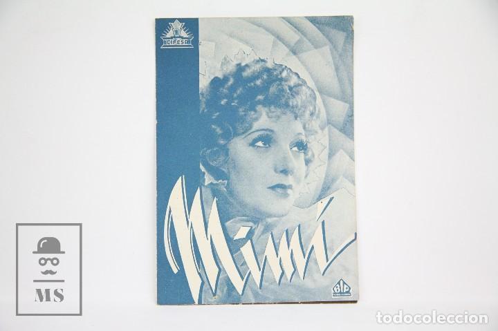 PROGRAMA DE CINE DOBLE - MIMÍ / GERTRUDE LAWRENCE - CON PUBLICIDAD - CIFESA - AÑOS 30 (Cine - Folletos de Mano - Drama)
