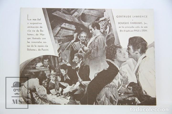 Cine: Programa de Cine Doble - Mimí / Gertrude Lawrence - Con Publicidad - Cifesa - Años 30 - Foto 2 - 109015287