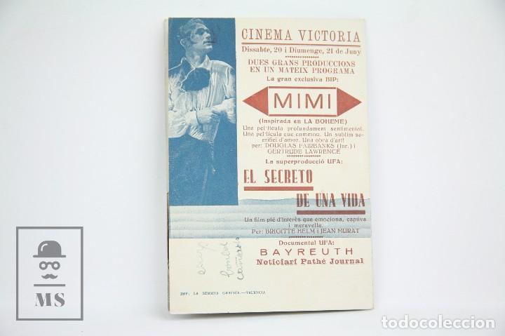 Cine: Programa de Cine Doble - Mimí / Gertrude Lawrence - Con Publicidad - Cifesa - Años 30 - Foto 3 - 109015287