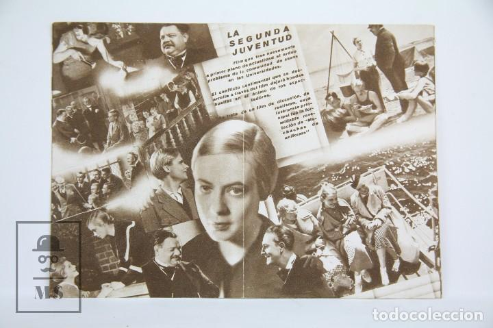 Cine: Programa de Cine Doble - La segunda Juventud / Hertha Thiele - Con Publicidad - Cinaes - Año 1934 - Foto 2 - 109015599