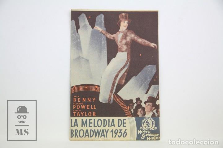 PROGRAMA DE CINE DOBLE - LA MELODÍA DE BROADWAY 1936 - CON PUBLICIDAD - METRO GOLDWYN - AÑO 1936 (Cine - Folletos de Mano - Drama)