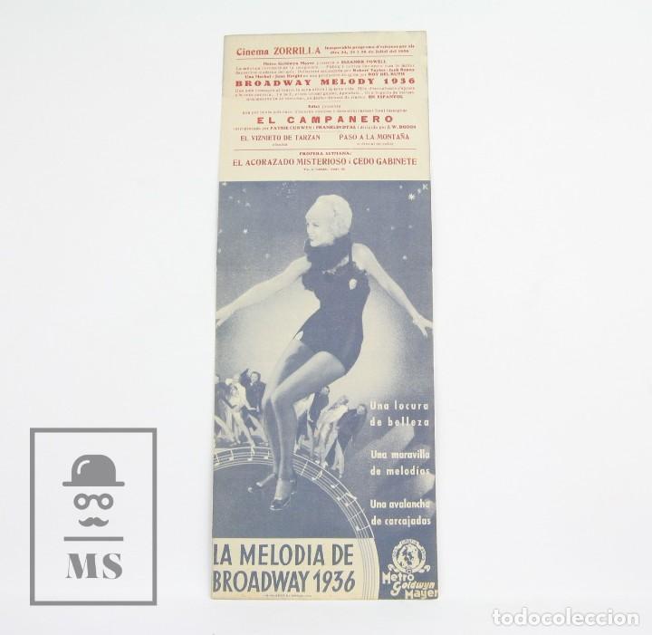 Cine: Programa de Cine Doble - La Melodía De Broadway 1936 - Con Publicidad - Metro Goldwyn - Año 1936 - Foto 2 - 109015839