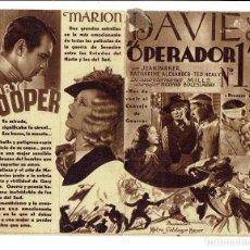 Cine: EL OPERADOR N. 13 / LA ESPIA N.13 - DOBLE MGM CON GARY COOPER - RARO. Lote 109235271