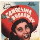 Cine: PROGRAMA DE MANO ORIGINAL UNA CAMPESINA EN BROADWAY (JUDY CANOVA). Lote 109244139
