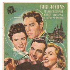 Cine: DOS CORAZONES EN HEIDELBERG - BIBI JOHNS, MARTIN BENRATH, GARDY GRANASS, HELMUTH SCHNEIDER - SOLIGO. Lote 150512998