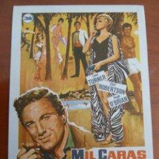 Cine: MIL CARAS TIENE EL AMOR LANA TURNER FOLLETO DE MANO ORIGINAL PERFECTO ESTADO. Lote 109275167