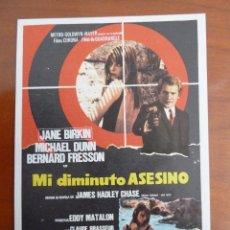 Cine: MI DIMINUTO ASESINO JANE BIRKIN FOLLETO DE MANO ORIGINAL PERFECTO ESTADO. Lote 109275323