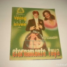 Cine: ETERNAMENTE TUYA, PROGRAMA DOBLE SIN PUBLICIDAD. Lote 109283011