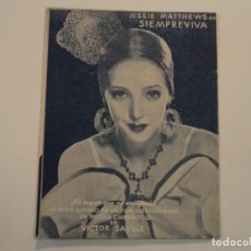 Flyers Publicitaires de films Anciens: PROGRAMA TRÍPTICO SIEMPREVIVA - CINE FÉMINA. Lote 109289103