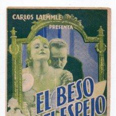Cine: PROGRAMA DOBLE EL BESO ANTE EL ESPEJO - CINE POPULAR. Lote 109290295