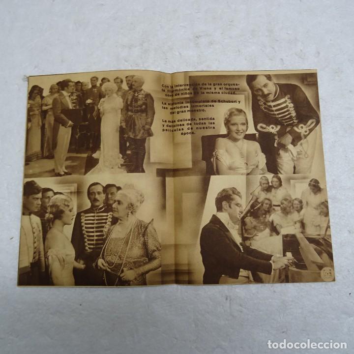 Cine: PROGRAMA DE CINE DOBLE VUELAN MIS CANCIONES CA. 1934. HANS JARAY Y MARTHA EGGERT. - Foto 2 - 109296211