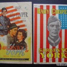 Cine: SARGENTO YORK, GARY COOPER. Lote 109298091
