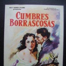 Cine: CUMBRES BORRACOSAS, LAURENCE OLIVIER, MERLE OBERON, DAVID NIVEN. Lote 109298243