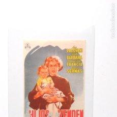 Cine: FOLLETO DE MANO LOS HIJOS NO SE VENDEN. Lote 109310867