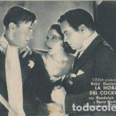 Cine: LA HORA DEL COCKTAIL (CON PUBLICIDAD). Lote 109396855