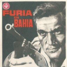 Cine: PROGRAMA DE CINE - FURIA EN BAHIA - FREDERICK STAFFORD - CINE RIALTO - SITGES - 1966. Lote 109466939