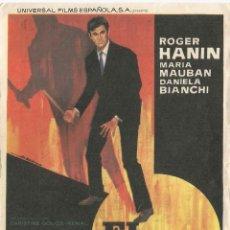 Cine: PROGRAMA DE CINE - EL TIGRE - DIRECTOR: CLAUDE CHABROL - CINE RETIRO - 1966. Lote 109467135