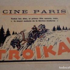 Cine: PROGRAMA DOBLE TROÏKA - CINE PARIS. Lote 109547403