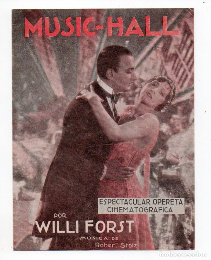 PROGRAMA DOBLE MUSIC-HALL - CINE FANTASIO (Cine - Folletos de Mano - Musicales)