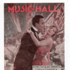 Cine: PROGRAMA DOBLE MUSIC-HALL - CINE FANTASIO. Lote 109549575