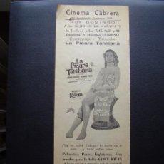 Cine: LA PÍCARA TAHITIANA, NANCY KWAN, PROGRAMA LOCAL GRANDE DEL CINEMA CABRERA. Lote 109596527