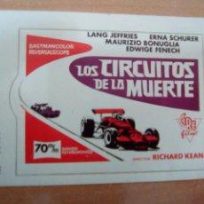 Cine: LOS CIRCUITOS DE LA MUERTE - INVITACIÓN ADHESIVA -. Lote 109599082