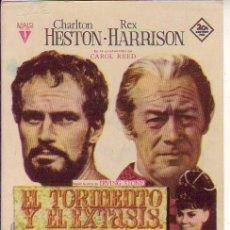 Cine: EL TORMENTO Y EL EXTASIS. Lote 109693647