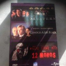 Cine: 3 DVD SLEEPERS , CONOCES A JOE BLACK, 12 MONOS. Lote 109820351