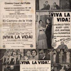 Cine: AVES SIN RIMBO - CINE BERGADA - BERGA - AÑO 1934. Lote 109992859