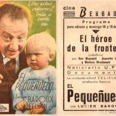 Cine: EL PEQUEÑUELO - CINEMA BERGADAN - BERGA. Lote 109993731