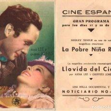 Cine: LLOVIDA DEL CIELO - CINE ESPAÑA DE BERGA. Lote 109993911