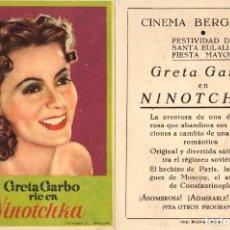 Cine: NINOTCHKA - CINEMA BERGADAN - BERGA. Lote 109994147