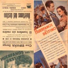 Cine: HUÉRFANOS DEL DESTINO - CINE ESPAÑA - BERGA. Lote 109994671