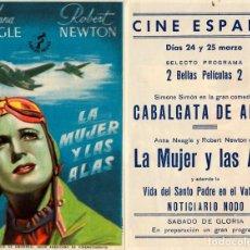 Cine: LA MUJER Y LAS ALAS - CINE ESPAÑA - BERGA. Lote 109994811